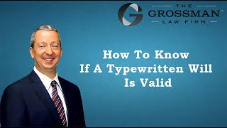 Download How to know if a typewritten will is valid Video