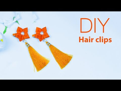 DIY Unique Flower  and Tassel hair clip | How to make Hair Accessories | Beads art