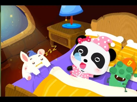 Goodnight|Develop a good sleeping habit|little monsters sleep music | BabyBus Kids Games