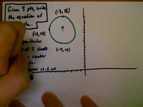 Given 3 points, write the equation of a circle