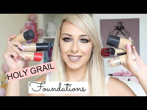 My Holy grail Foundations for OILY SKIN! 2016 | DramaticMAC