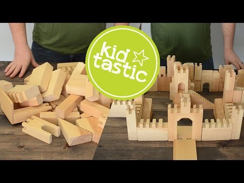 Building with Toy Castle Blocks