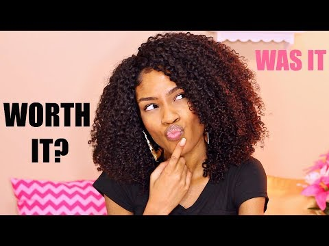 Curly Quick Weave on Natural Hair Review► Flip Over Method