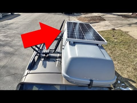 Mounting a Solar Panel to a Car's Rooftop Cargo Box (For Vandwelling, Overlanding, etc.)