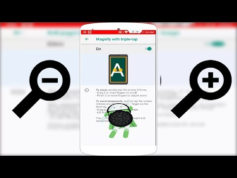 How to Zoom in & Out Screen in Android Oreo 2018