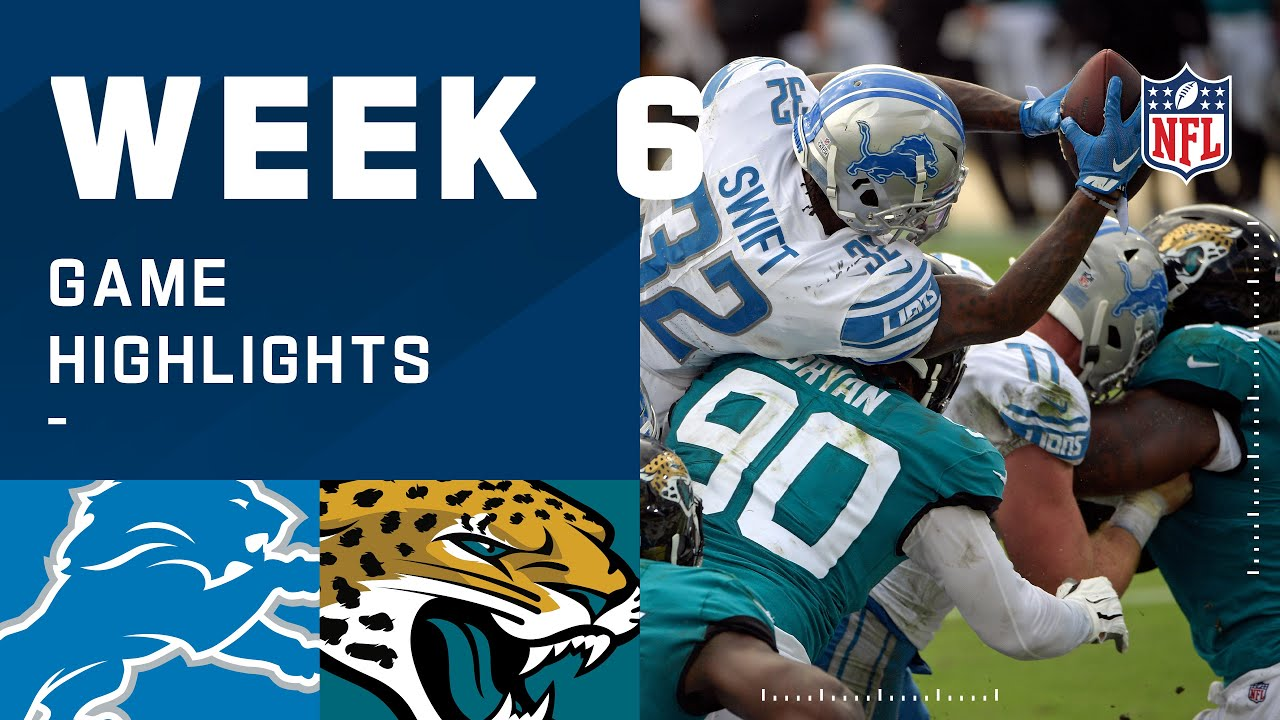 Lions vs. Jaguars Week 6 Highlights | NFL 2020
