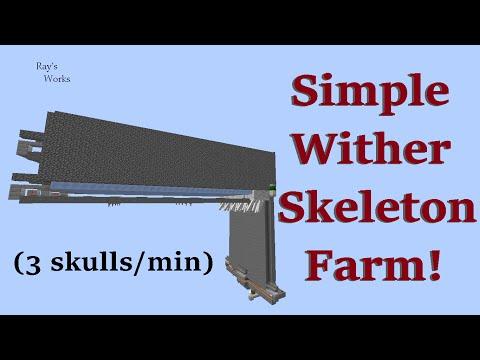Simple Wither Skeleton Farm! (3 skulls/min) 1.10-1.8+ Vanilla Survival | Ray's Works