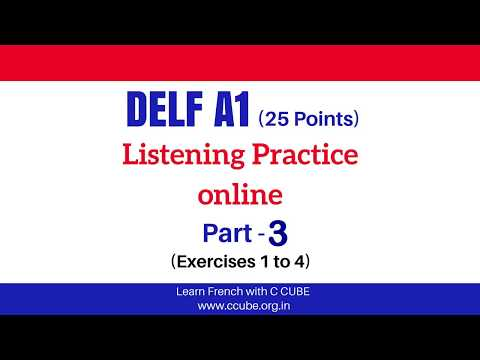 DELF A1 Listening Exam Sample Paper Part 3 - DELF A1 French Comprehension orale examen Practice