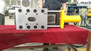 GMACH  plate type continuous screen changer  for plastic extrusion line