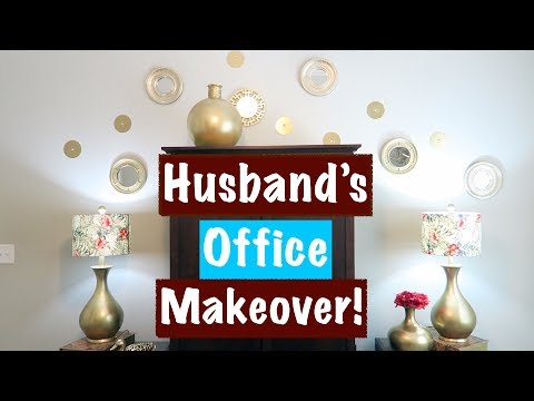 HUSBAND'S OFFICE MAKEOVER‼️CLEAN WITH ME😀