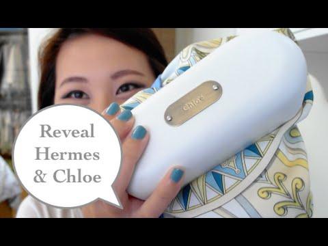 Reveal: Hermes scarf + Chloe sunglasses