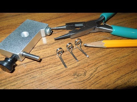 How To Make Wire Fishing Rod Guides For Rod Building/Repair