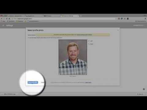 How to change your profile picture in Google Classroom and Drive
