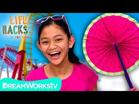 Paper Fan + Other Theme Park Hacks   LIFE HACKS FOR KIDS