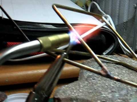 Copper rod brassing