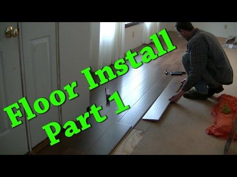 New Floor Install Carpet Removal Laminate Install Part 1 of 2