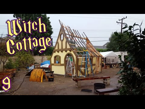 Roofing Witch Cottage Facade & Surprise Present!