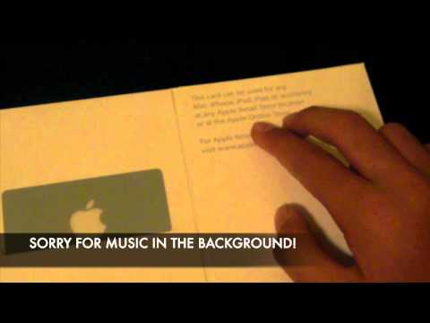 Apple Gift Card Unboxing 2012