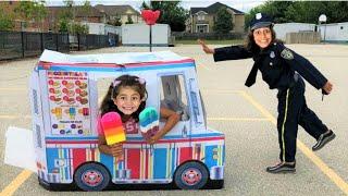 Police Buy Ice Cream from the Ice Cream Truck!! Kids Pretend Play