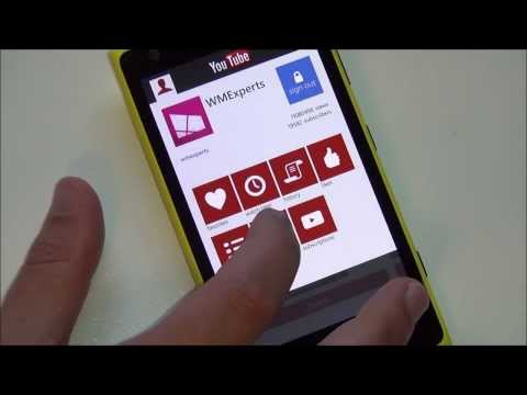 Official YouTube app for Windows Phone - Quick tour