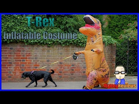 Inflatable T-Rex Dinosaur Costume (Adult Size) | Set-Up & Review | MyKeyReviews