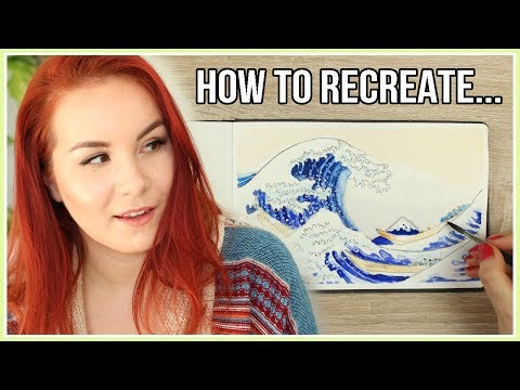 How to Recreate The Great Wave off Kanagawa   Art Journal Thursday Ep. 32