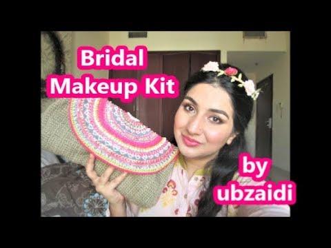 Bridal Makeup Kit/ Wedding Preparations/ Makeup Pouch for brides