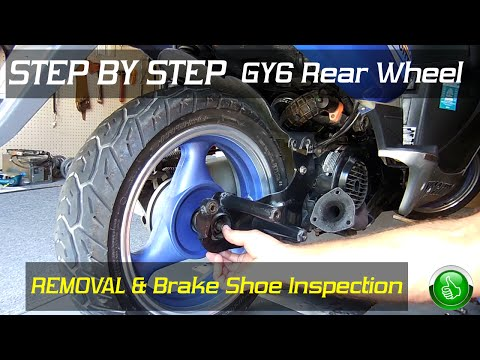 STEP BY STEP GY6 Rear Wheel Removal/Brake Inspection