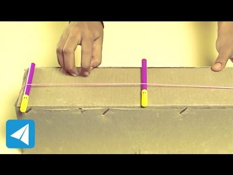 Length of rubber band determines pitch | Sound | Physics