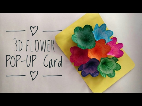 How to Make 3D Flower POP UP Card | DIY | Greeting Card