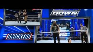 WWE Smackdown 10/03/2016: Usos, Dean Ambrose &  Dolph Ziggler vs The Family Wyatt