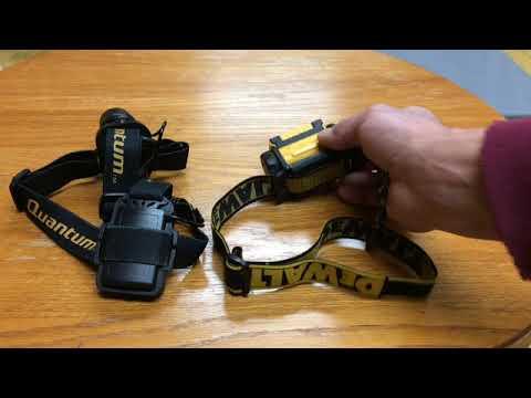 DeWalt dwht70440 vs harbour freight Quantum led headlamp flash light