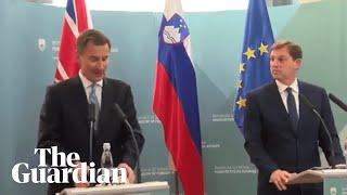 Jeremy Hunt's latest gaffe: Slovenia was 'Soviet vassal state'