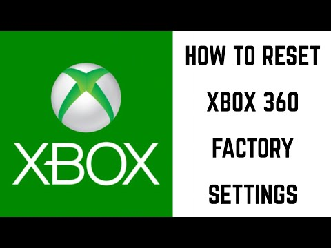 How to Reset Xbox 360 Factory Settings