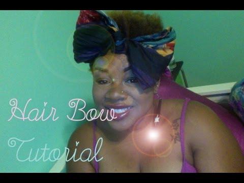 Hair Bow Tutorial w/ hair scarf ♡