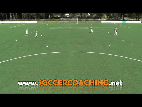 Soccer passing drills with 1-2 combination | Top soccer drills