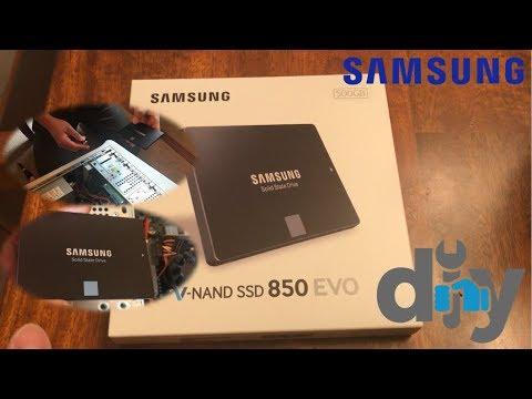 Samsung 850 EVO 500GB Internal SSD Hard Drive Review & Installation