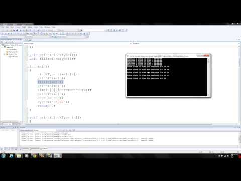 C++ Programming 45 - Array of class objects