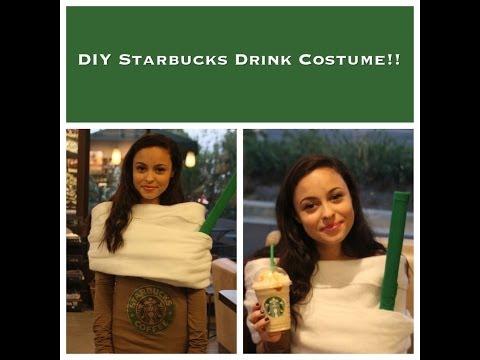 DIY Starbucks Drink Costume!!