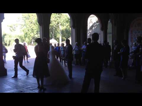 Wedding ceremony at Bethesda Terrace, Central Park, NYC
