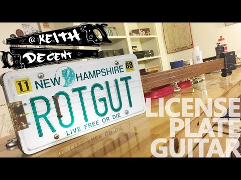 LICENSE PLATE GUITAR - a Decent Project