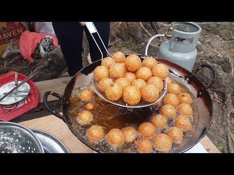 Street Food Festival in Saigon Vietnam 2018   Sesame Balls