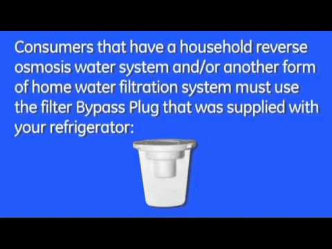 Replace Water Filter - Monogram Refrigerator