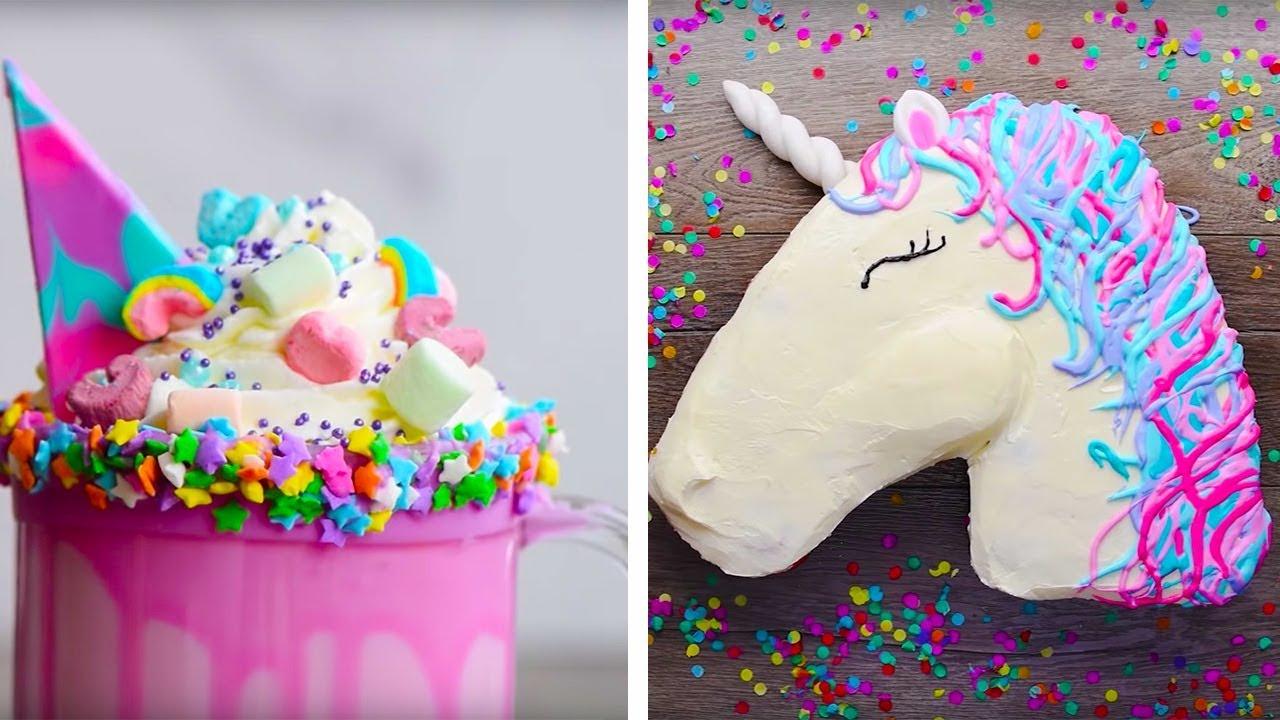 10 Amazing Unicorn Themed  Dessert Recipes | DIY Homemade Unicorn Buttercream Cupcakes by So Yummy