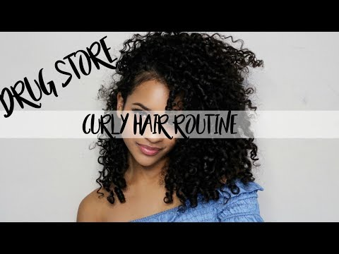 My Drug Store Curly Hair Routine.