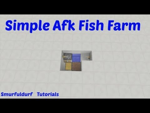 Minecraft | Simple / Easy Starter AFK Fish Farm | PC Xbox PE PS4 | TU 57