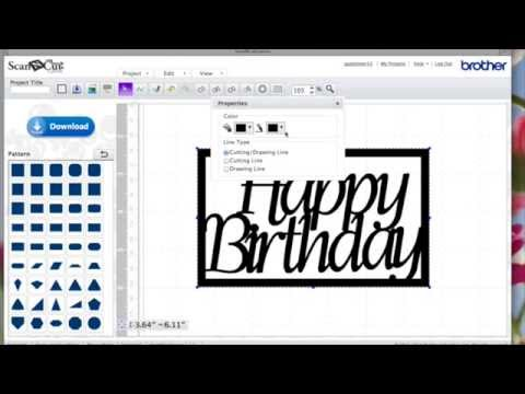 How to make ScanNCut Canvas Word Frames