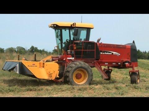 Galusha Farm - New Holland HW365, Cutting Hay on 7-1-2013