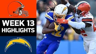 Browns vs. Chargers | NFL Week 13 Game Highlights