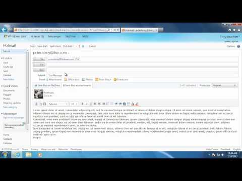Learn Windows 7 - Creating a New Email